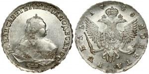 Russia 1 Rouble 1748 СПБ St. Petersburg. Elizabeth (1741-1762). Averse: Crowned bust right. Reverse...