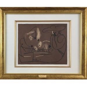 Pablo Picasso (1881-1973), Leżąca kobieta i mężczyzna w dużym kapeluszu