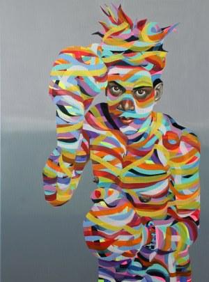 Paweł Dąbrowski (ur. 1974), Tęczowy Basquiat, 2020