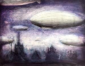 Radosław Gitkiewicz (ur. 1973), Lot o purpurowym świcie, 2021