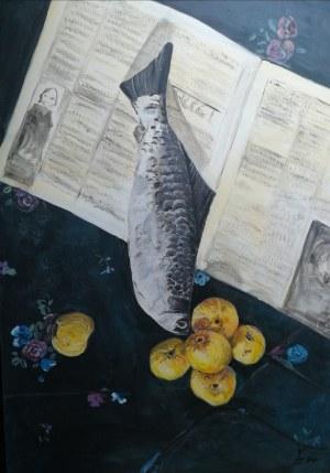 Katarzyna Zachtej (ur. 1980), Martwa natura z rybą, 2021