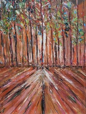 Anna Piórek (ur. 1967), Red tree, 2021