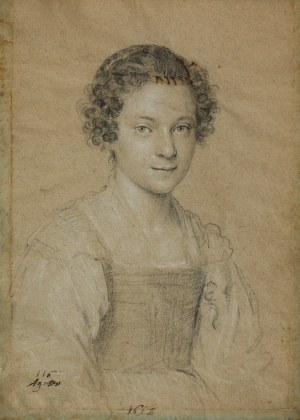 Ottavio LEONI (1578-1630), Portret młodej kobiety (1612)