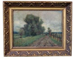 Władysław MALECKI (1863-1900), Pejzaż wiejski (1882)