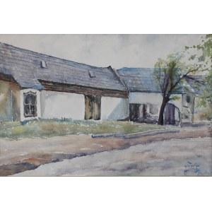 Julian FAŁAT (1853-1929), Zabudowania w Bystrej (1921)