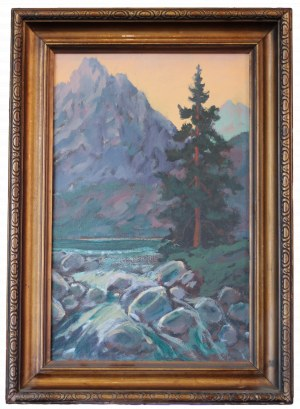 Stanisław GAŁEK (1876-1961), Pejzaż górski