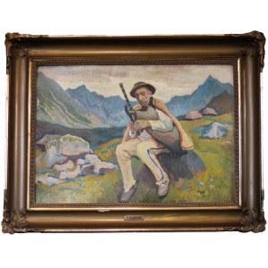 Stanisław KAMOCKI (1875-1944), Góral na hali, autoportret
