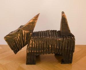 Józef Wilkoń (ur. 1930), Pies terrier, 2021