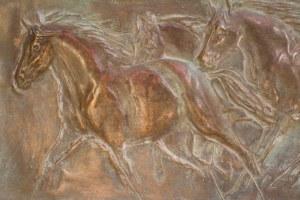 Anna Wątróbska-Wdowiarska (ur. 1960), Galop- 4 konie, unikat