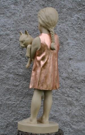 Bogusław Zen (ur. 1963), Dziewczynka z kotkiem, unikat 2021