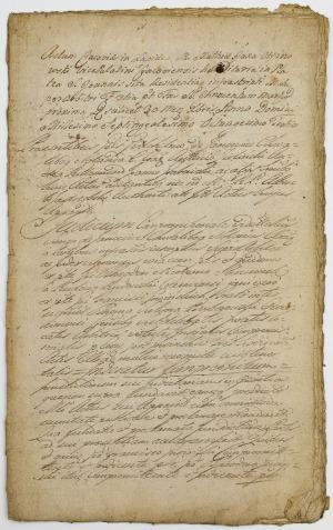 UMOWA ZAWARTA MIĘDZY SZYMONEM CHWALIBOGIEM Z JANOWIC I ANTONIM ZIELIŃSKIM, Kraków, 30.03.1783