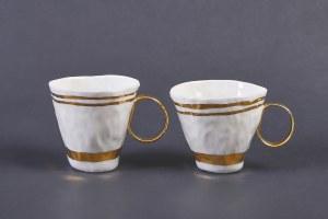 Magdalena Konior, Zestaw kubków z porcelany (24-karatowe złoto, 2 szt.)