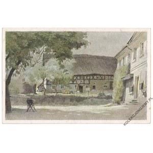 [DĘBOWY GAJ] Farbige Zeichnungen von Dr. P. Aust. Bauernhaus in Siebeneichen