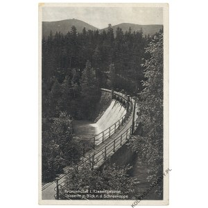 [KARPACZ] Krummhübel i. Riesengebirge. Talsperre m. Blick n.d. Schneekoppe