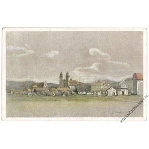 [KRZESZÓW] Farbige Zeichnungen von Dr. P. Aust. Kloster Grüßau
