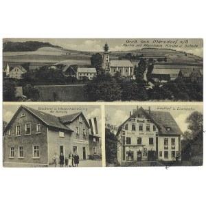 [MARCISZÓW. Kościół, piekarnia, gospoda] Gruß aus Märzdorf a./B