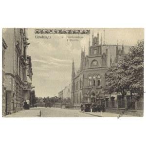 [GRUDZIĄDZ. Ulica Sienkiewicza i poczta] Graudenz. Post in der Boergenstraße