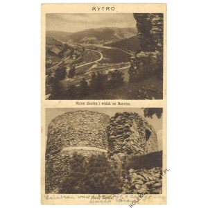 RYTRO. Ruiny Zamku i widok na Barcice