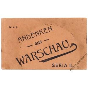 [WARSZAWA, bloczek, 6 pocztówek] Andenken aus Warschau