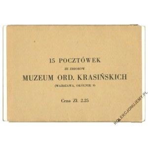 [WARSZAWA] 15 pocztówek ze zbiorów Muzeum Ordynacji Krasińskich