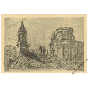 [WARSZAWA] Warszawa 1945 r. Kościół św. Aleksandra