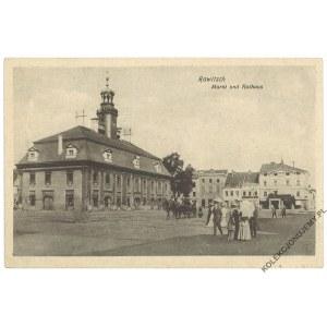 [RAWICZ] Rawitsch. Markt und Rathaus