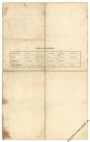 [BIELSKO-BIAŁA] Świadectwo ukończenia kursu w Krajowej Szkole Kupieckiej w Białej, 1918