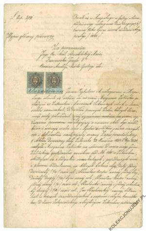 [NOWY TARG] Wypis główny. Jan Trybulec - C. K. Notariusz, 1885