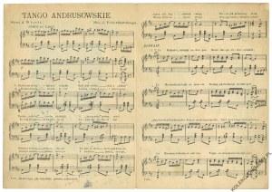 [NUTY. Stempel Antykwariatu Leona Idzikowskiego w Warszawie] Tango Andrusowskie, słowa A. Własta, muz. J. Petersburskiego