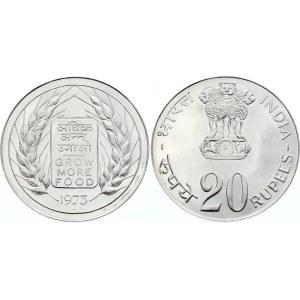 India 20 Rupees 1973