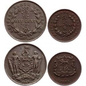 British North Borneo 1/2 & 1 Cent 1887 - 1891 H