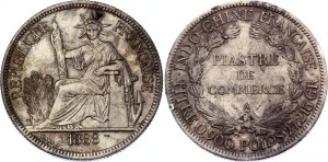 French Indochina 1 Piastre 1888 A