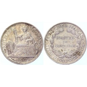French Indochina 1 Piastre 1906 A