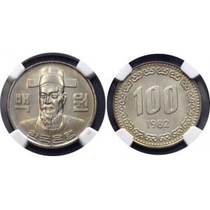 South Korea 100 Won 1982 NGC MS 66