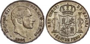 Philippines 50 Centimos de Peso 1885