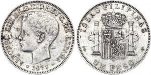 Philippines 1 Peso 1897 SVG