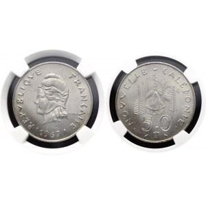 New Caledonia 50 Francs 1967 NGC MS62