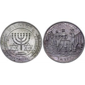 Israel Silver Commemorative Medal The birth of the state of Israel 1948 Proof