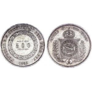 Brazil 500 Reis 1853