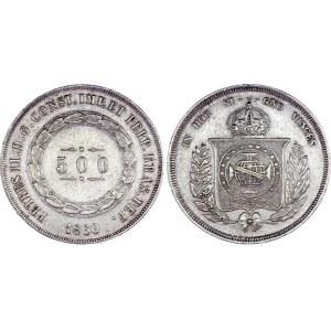 Brazil 500 Reis 1860