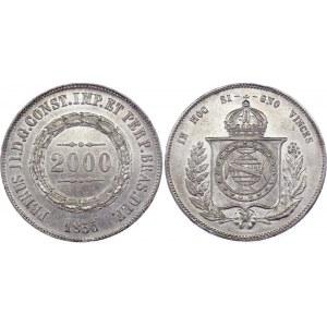 Brazil 2000 Reis 1855