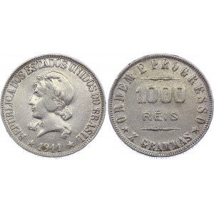 Brazil 1000 Reis 1911