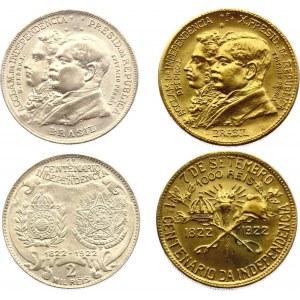 Brazil 1000 & 2000 Reis 1922