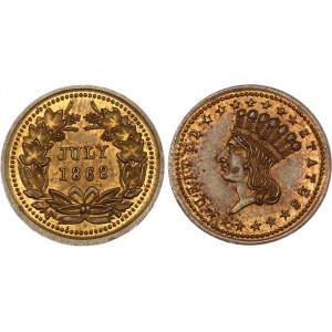 United States Indian Head Token July 1868