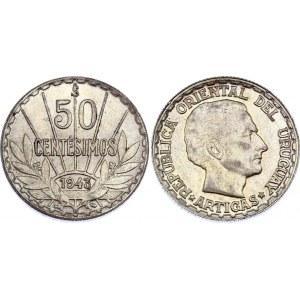 Uruguay 50 Centesimos 1943 So