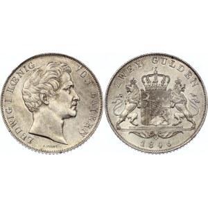 German States Bavaria 2 Gulden 1846