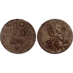 German States Frankfurt 1 Heller 1822 F GB