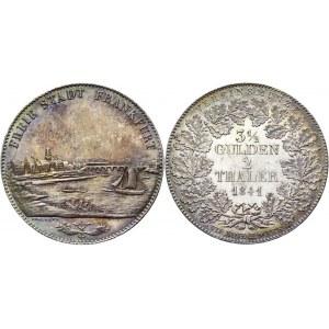 German States Frankfurt 2 Taler / 3-1/2 Gulden 1841