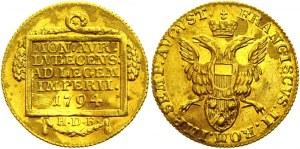 German States Lubeck 1 Ducat 1794 HDF