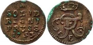 German States Prussia 1 Schilling 1753 E